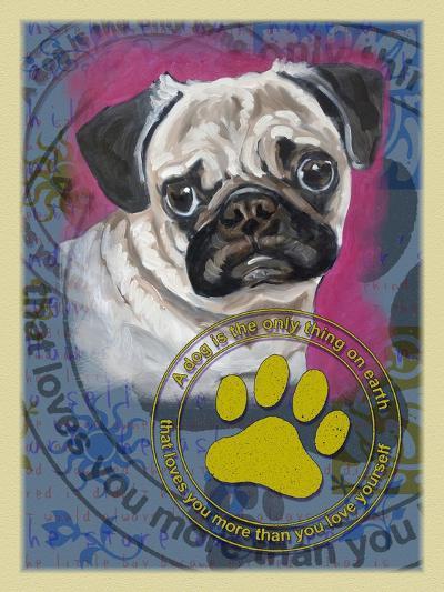 Pug-Cathy Cute-Giclee Print