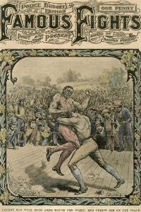 Caught Him with Both Arms Round the Waist, and Threw Him on the Stage, C1890-C1909 by Pugnis