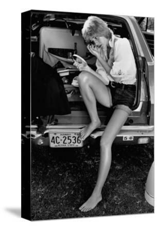 Glamour - May 1971 - Sitting in Back of Station Wagon