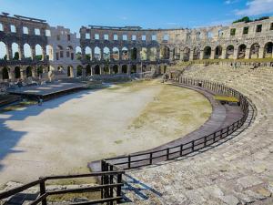 Pula, Istria County, Croatia. The Roman amphitheatre.
