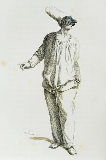 Pulcinella in 1800-Maurice Sand-Giclee Print
