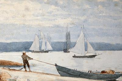 Pulling the Dory, 1880-Winslow Homer-Giclee Print