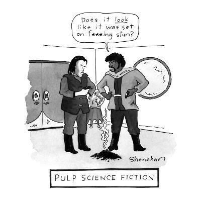 PULP SCIENCE FICTION - New Yorker Cartoon-Danny Shanahan-Premium Giclee Print