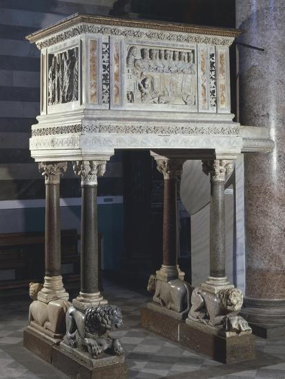 Pulpit, Cathedral of the Assumption Blessed Virgin, Volterra, Tuscany, Italy, 12th-16th Century--Giclee Print