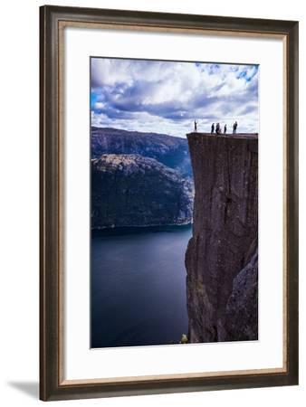 Pulpit Rock, Lysefjord View, Stavanger, Norway, Scandinavia, Europe-Jim Nix-Framed Photographic Print