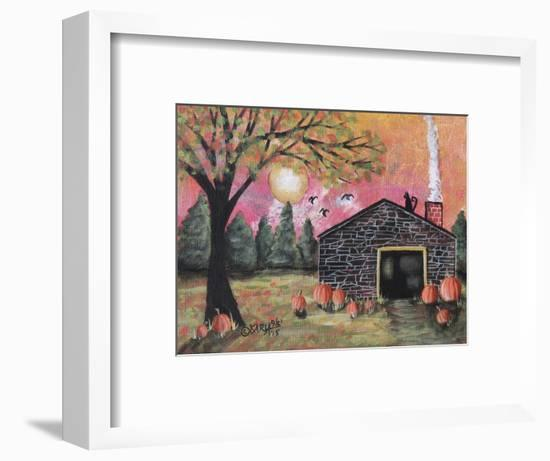 Pumpkin Barn 1-Karla Gerard-Framed Giclee Print