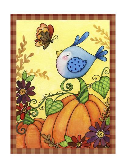 Pumpkin Bird-Jennifer Nilsson-Giclee Print