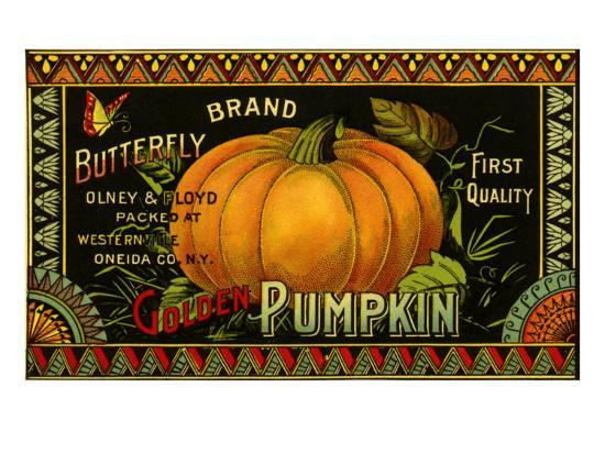 Pumpkin Label--Giclee Print