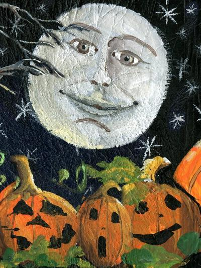 Pumpkin Patch Halloween Full Moon Face-sylvia pimental-Art Print
