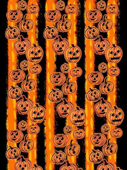 Pumpkin Patch Pals II-Nicholas Biscardi-Art Print