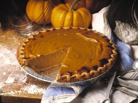 Pumpkin Pie with Slice Removed-Envision-Photographic Print