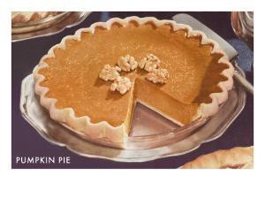 Pumpkin Pie with Walnuts