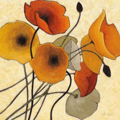 Pumpkin Poppies II-Shirley Novak-Art Print