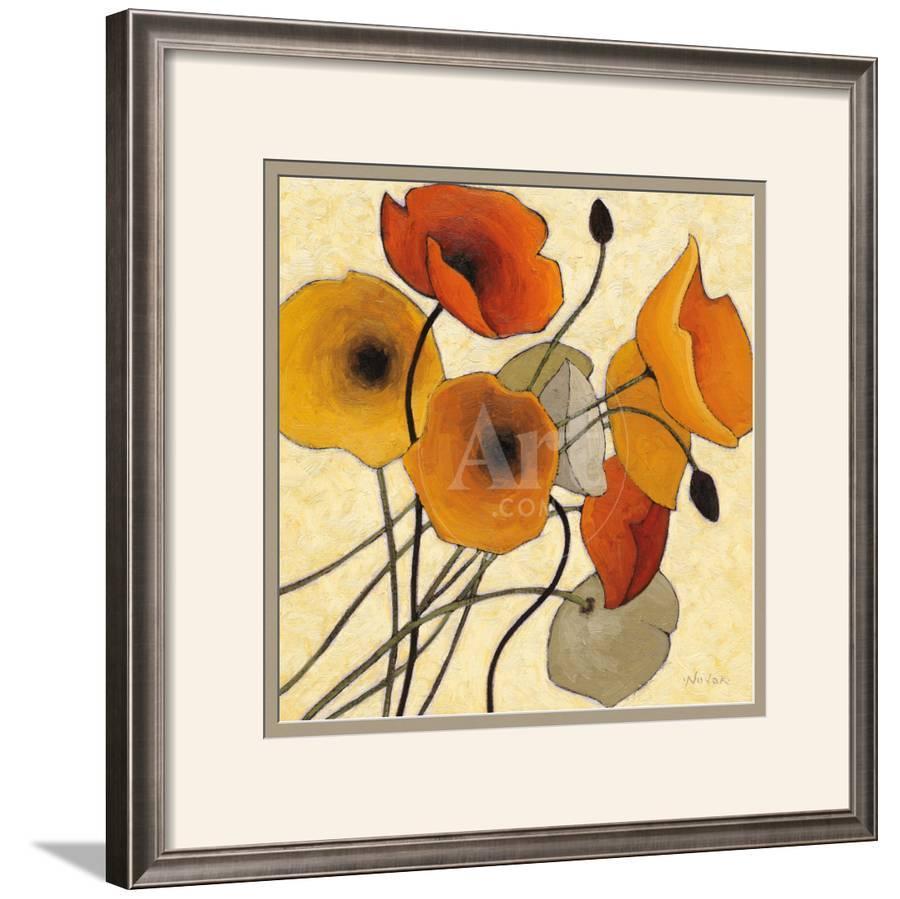 Pumpkin Poppies II Framed Art Print by Shirley Novak | Art.com
