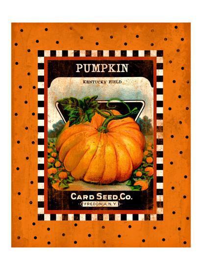 Pumpkin Seed Pack--Giclee Print