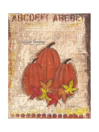 Pumpkins and Leaves-Cassandra Cushman-Art Print