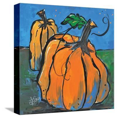 Pumpkins At Twilight-Terri Einer-Stretched Canvas Print
