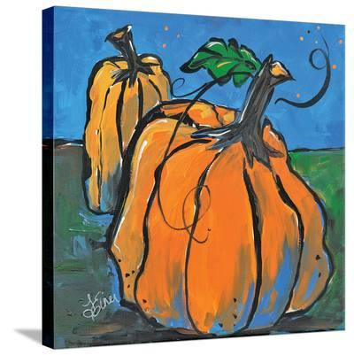 Pumpkins At Twilight-Terri Einer-Stretched Canvas Print
