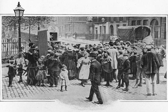 Punch and Judy show, London, c1903 (1903)-Unknown-Photographic Print