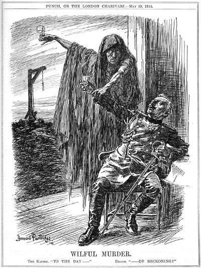 Punch Cartoon on the Sinking of the Lusitania, 1915-Bernard Partridge-Giclee Print