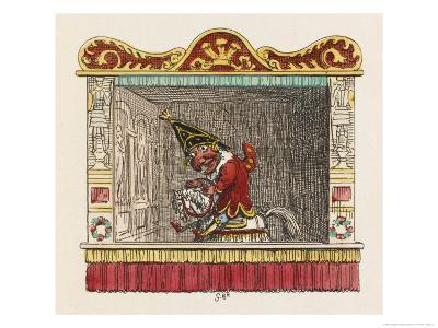 Punch on His Steed-George Cruikshank-Giclee Print