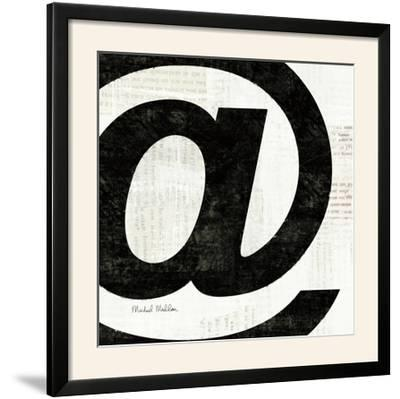 Punctuated Black Square V--Framed Photographic Print
