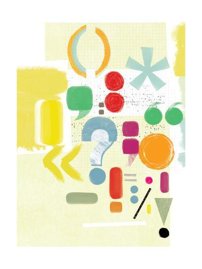 Punctuation-Catherine Aguilar-Giclee Print