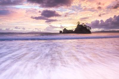 Pungapunga Island at Whangapoua Beach at Sunrise, Coromandel Peninsula, North Island, New Zealand-Matthew Williams-Ellis-Photographic Print