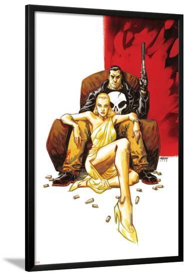 Punisher Max: Little Black Book Cover: Punisher and Vette--Lamina Framed Poster