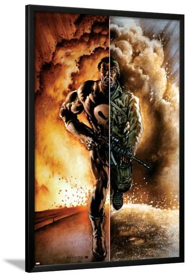 Punisher: Nightmare #1 Cover: Punisher-Mark Texeira-Lamina Framed Poster