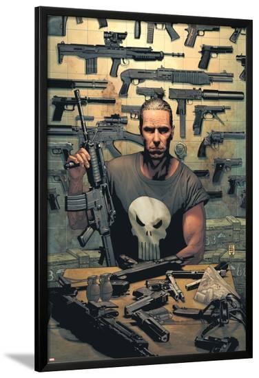 Punisher No.1 Cover: Punisher-Tim Bradstreet-Lamina Framed Poster