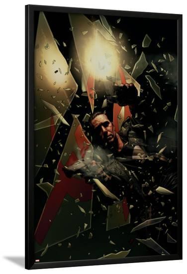 Punisher No.16 Cover: Punisher Smashing--Lamina Framed Poster