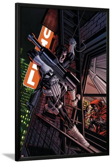 Punisher No.4 Cover: Captain America-Mike McKone-Lamina Framed Poster