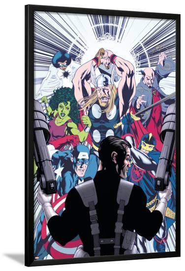 Punisher No.8 Cover: Punisher-Mike McKone-Lamina Framed Poster