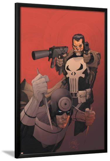 Punisher Vs. Bullseye No.3 Cover: Punisher and Bullseye-Leinil Francis Yu-Lamina Framed Poster