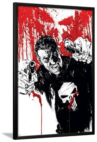 Punisher War Journal No.17 Cover: Punisher-Alex Maleev-Lamina Framed Poster