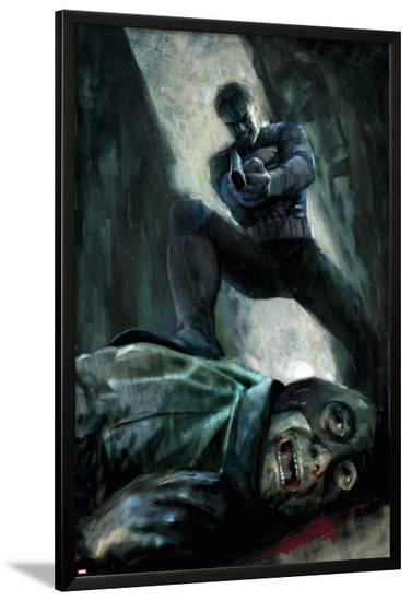 Punisher War Journal No.22 Group: Wrecker, Thunderball, Bulldozer and Piledriver-Butch Guice-Lamina Framed Poster