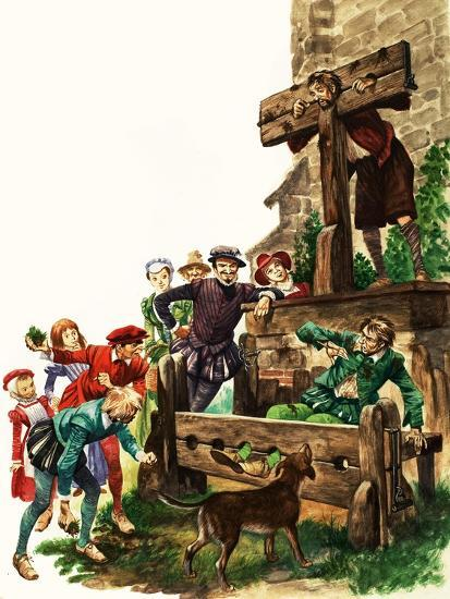 Punishment in Tudor Times-Peter Jackson-Giclee Print
