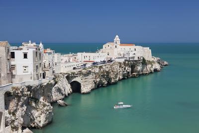 Punta San Francesco and Old Town, Vieste, Gargano, Foggia Province, Puglia, Italy, Europe-Markus Lange-Photographic Print