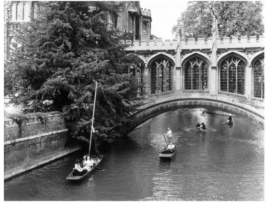Punting at Cambridge-Henry Grant-Photographic Print