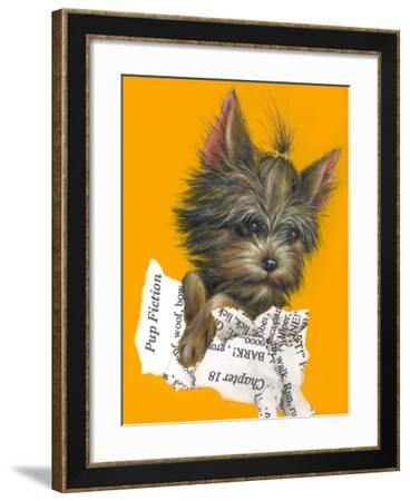 Pup Fiction - 27A-Peggy Harris-Framed Giclee Print