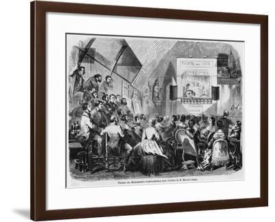 Puppet Show in Maurice Sand's Studio, 1870-Baron Dudevant Jean Francois Maurice Sand-Framed Giclee Print