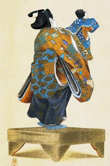 Puppeteer with Puppet Seen from Behind--Giclee Print
