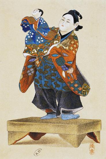 Puppeteer with Puppet--Giclee Print