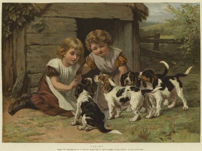 Pups-George Augustus Holmes-Giclee Print