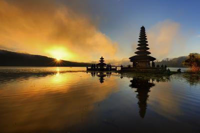 Pura Ulun Danu Bratan Water Temple-by toonman-Photographic Print