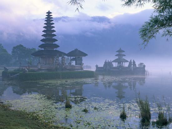 Pura Ulun Temple, Danu Bratan, Island of Bali, Indonesia, Southeast Asia-Bruno Morandi-Photographic Print