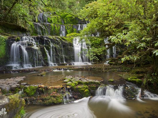 Purakanui Falls, Catlins, Otago, South Island, New Zealand-Rainer Mirau-Photographic Print
