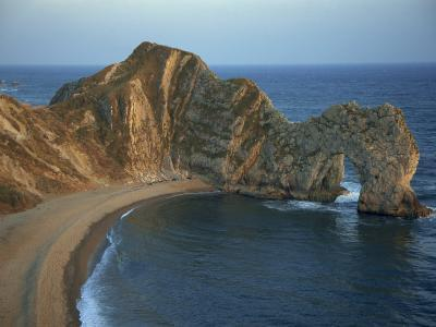 Purbeck Limestone Arch, Durdle Door, Near Lulworth, Dorset Coast, England, United Kingdom, Europe-Dominic Harcourt-webster-Photographic Print