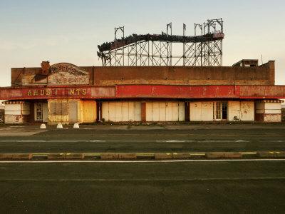 Derelict Amusement Park, North Wales, United Kingdom, Europe